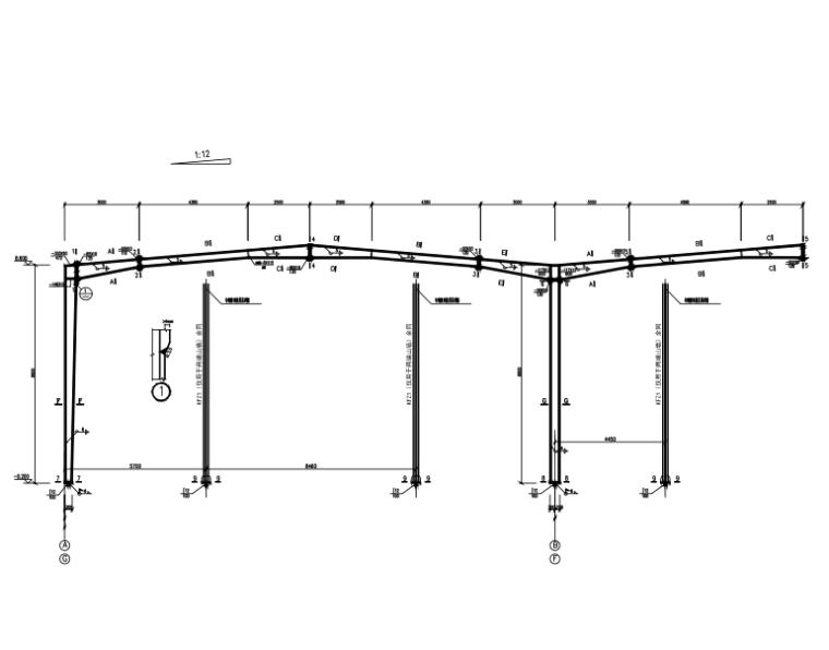 工业园门式钢架厂房结构施工图