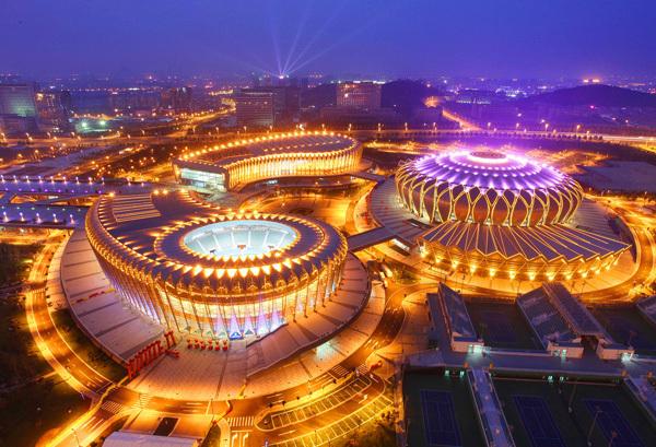 济南奥体中心场馆钢结构设计特色与健康监测