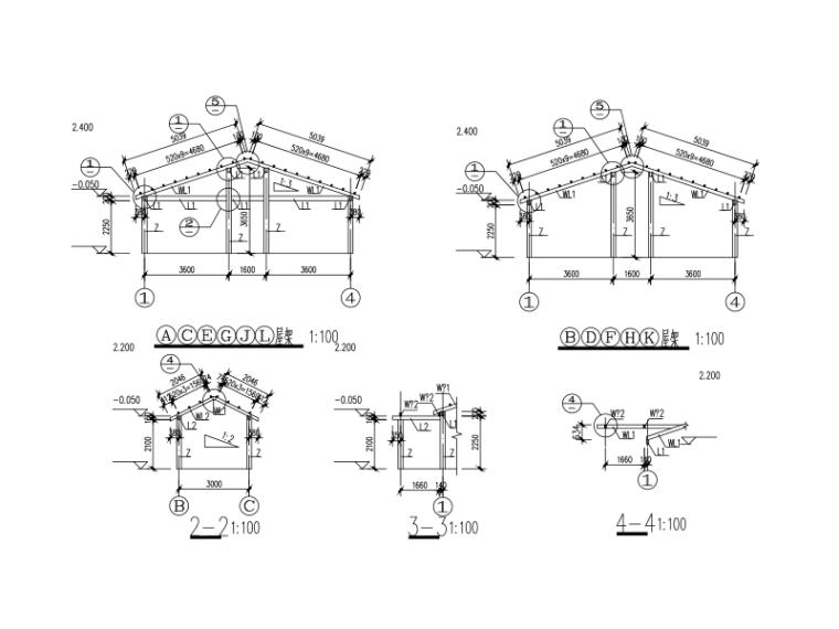 木结构框架房屋设计图