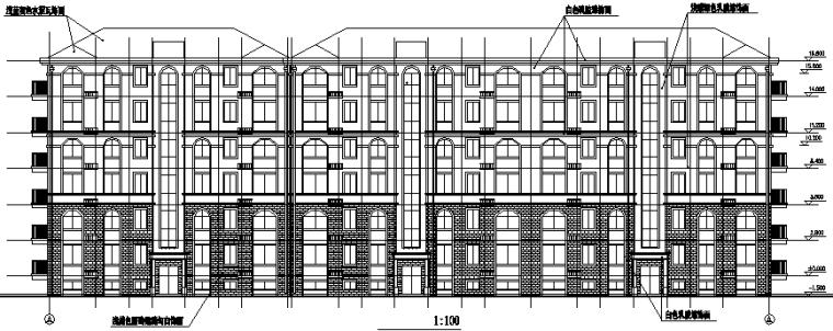 异形柱框架结构住宅楼全套图(CAD,28张)