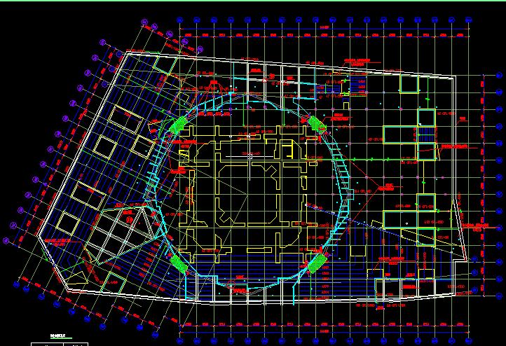 上海环球金融中心基坑逆作法施工结构图_2