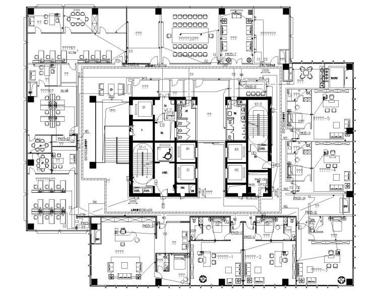[江苏]南通大型国贸中心37层电气设计图纸(含各种弱电系统)_7