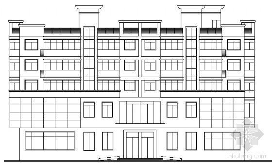 某五层老人活动中心建筑方案图