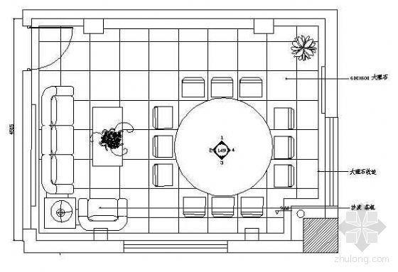 餐厅包房平面布置图8