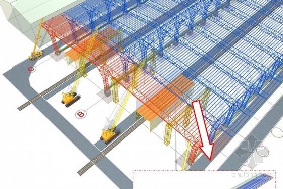 [内蒙古]大跨度空间桁架结构单层车间滑移施工方案(液压同步顶推滑移、250页)
