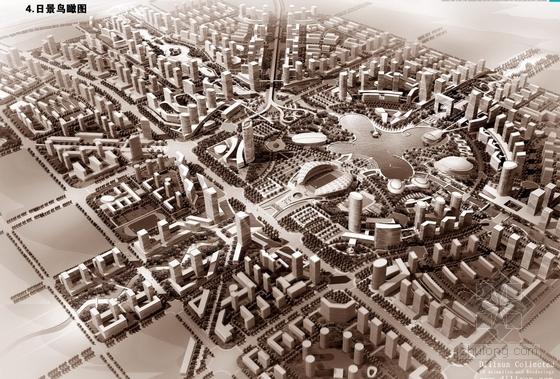 [潍坊]整体概念桌子v整体及核心区城市设计方案平面设计新城怎么做图片