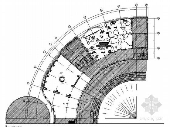 [宜兴]文化中心特色高档现代科技馆CAD装修施工图