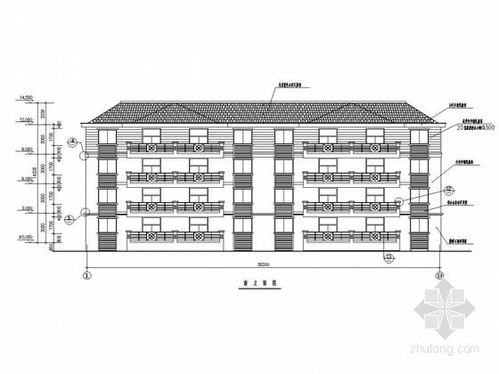 [安徽]四层框架结构幼儿园住宅结构施工图(含建筑图)