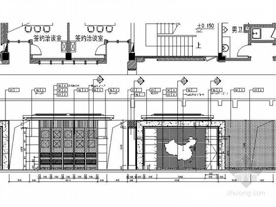 [北京]房山区高档现代销售中心装修施工图立面图