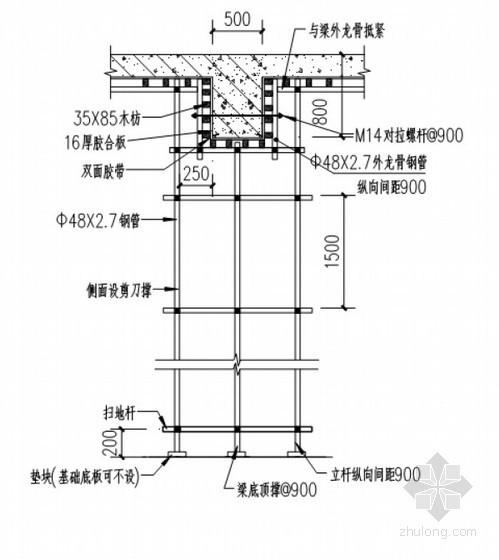 高层商住楼模板专项施工方案(计算书)-