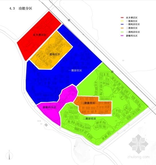 [湖北]新中式风湖翔水镇酒店规划设计方案文本(知名设计院)-新中式风湖翔水镇酒店规划分析图