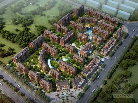 [昆明]英伦风格高层商品房住宅区规划设计方案文本(知名设计院 含CAD)