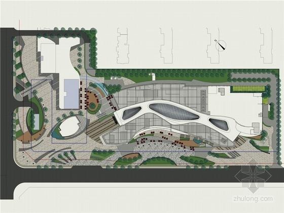 [西安]著名地产项目商业综合体景观概念设计方案