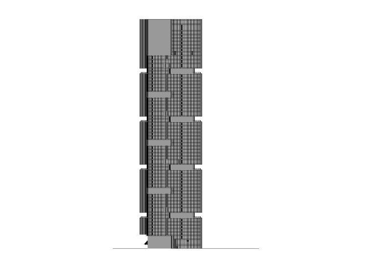 [河南]郑州绿地中央广场现代风高层综合体办公建筑施工图(CAD)