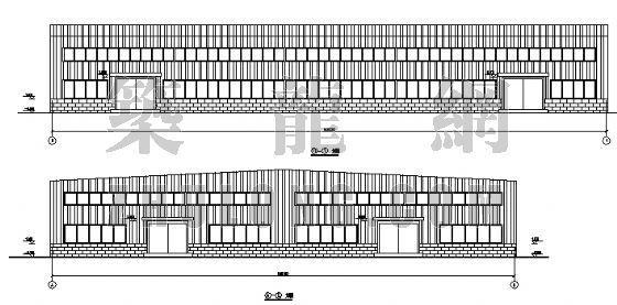 重庆某耐火材料公司轻钢结构工程方案图