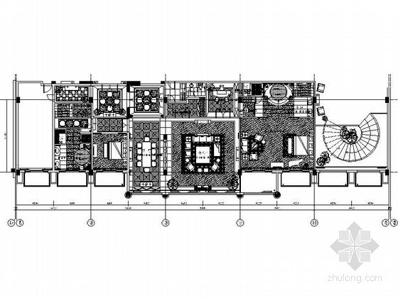 [上海]某五星级豪华酒店总统套房室内装修施工图(含效果)