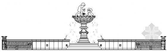 小区欧式喷泉施工图