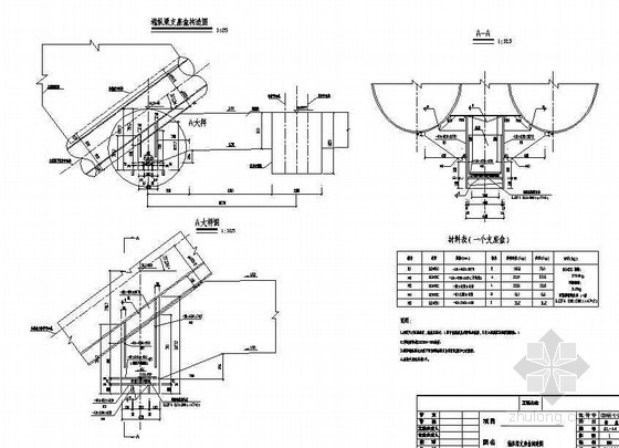 380m中承式钢管混凝土系杆拱桥端纵梁支座盒构造节点详图