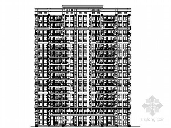 某十五层欧式风格住宅楼建筑施工图