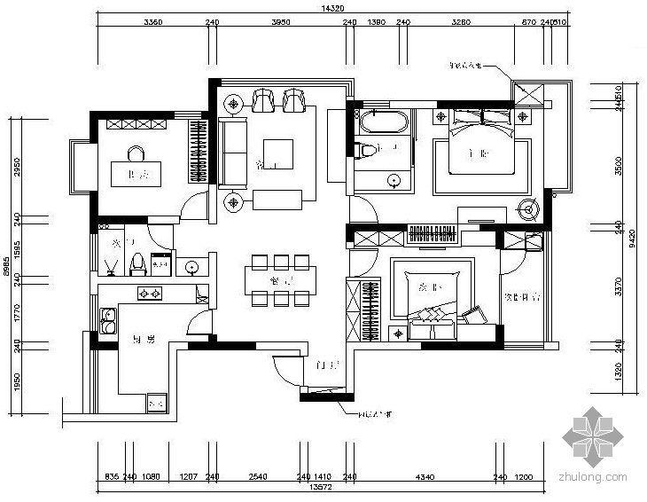 [无锡]现代三室两厅装修图(含效果)