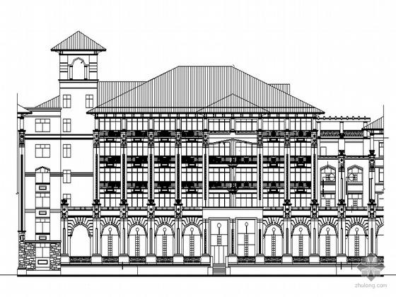 某豪华欧式酒店裙建筑设计方案图