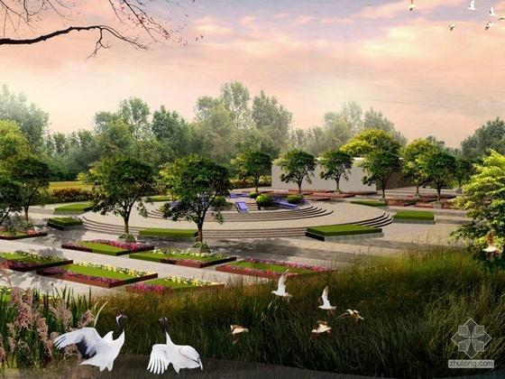 湿地公园景观节点设计效果图