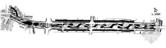 杭州某立交桥桥底绿化施工图