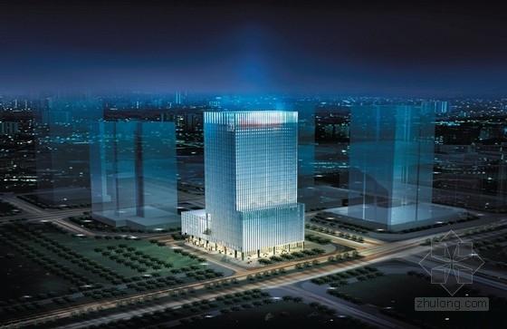 [深圳]32层超高层企业办公楼建筑方案文本