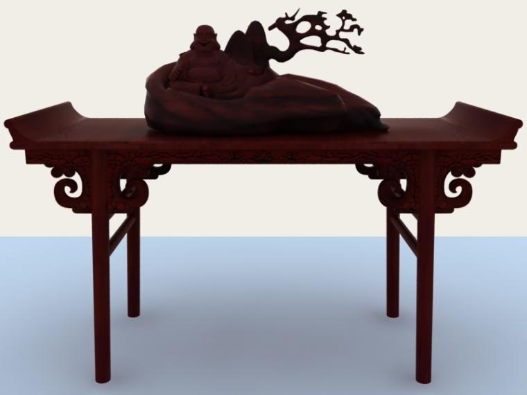 中式端景台3D模型下载