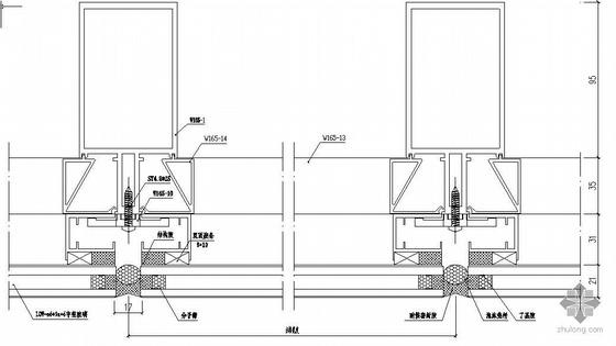 某体育局办公楼&网球馆幕墙结构设计图