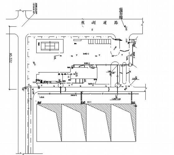 某厂区给水排水总平面图