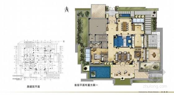 [北京]超大三层别墅样板间室内设计概念方案