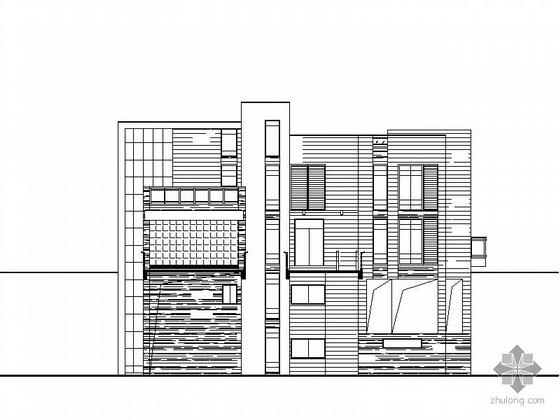 [温州]某四层海景别墅建筑施工图