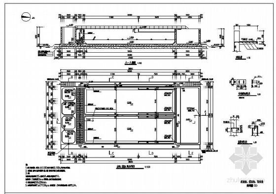 某反应池、沉淀池、配水池结构设计图
