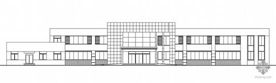 某二层钢结构办公楼建筑结构施工图(含装饰图纸)
