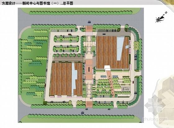 图书馆与新闻中心周边环境景观规划方案