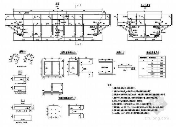铁路客运专线桥梁附属结构预埋件吊蓝结构及预埋件节点详图设计