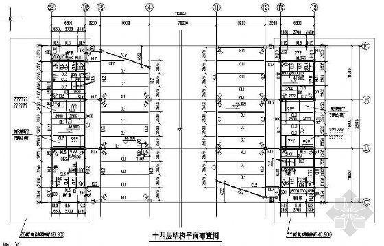 十三层钢框架结构完整图纸