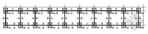 某钢框架上门式宿舍楼结构设计图纸