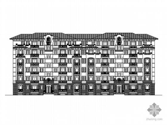 [江西新余]某六层板式花园住宅楼建筑施工图