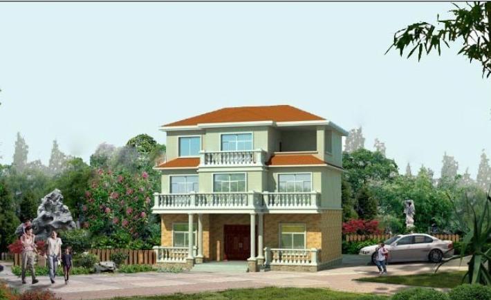 140平米农民建房方案别墅设计(包含CAD)