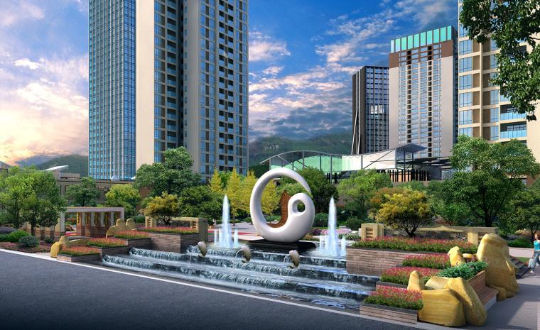 冠领园林商业地产设计:贵州林达阳光城_11