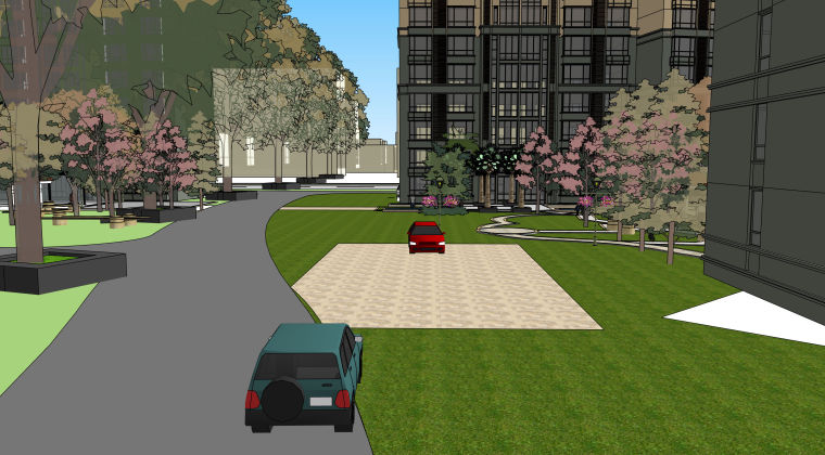 欧式小区建筑模型方案_4