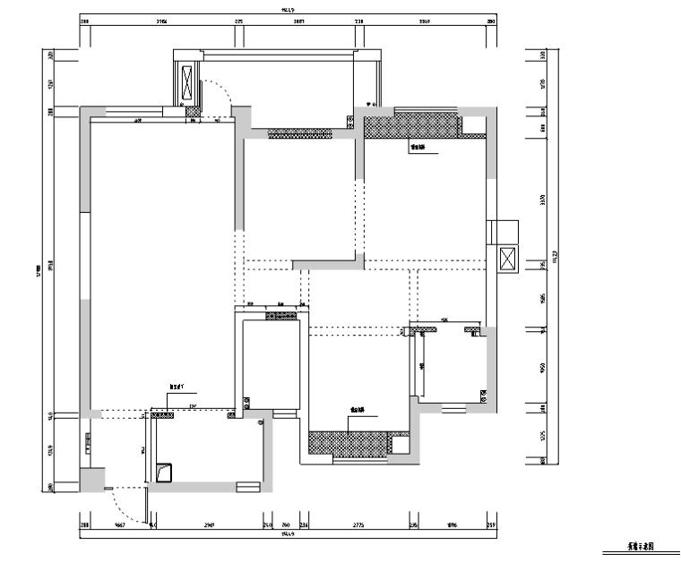 高雅美式风格住宅设计施工图(附效果图)