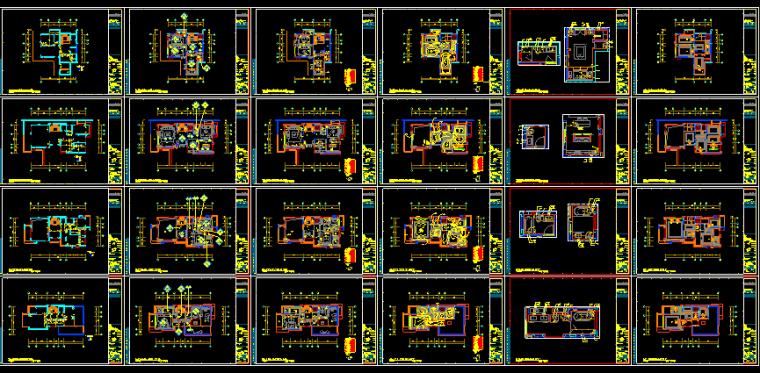 【广东】现代东方内涵风格别墅设计施工图(附效果图+材料表)_5