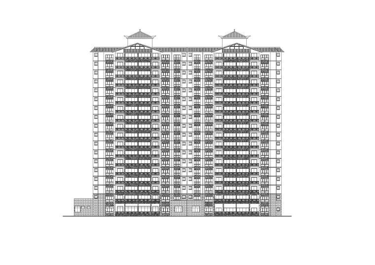 [福建]永安居住建筑设计整套施工图与节能报告书(CAD+文本)