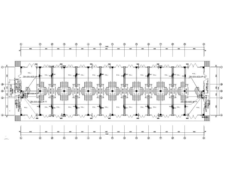 兩層營業廳電氣施工圖(照明、電話、等電位)