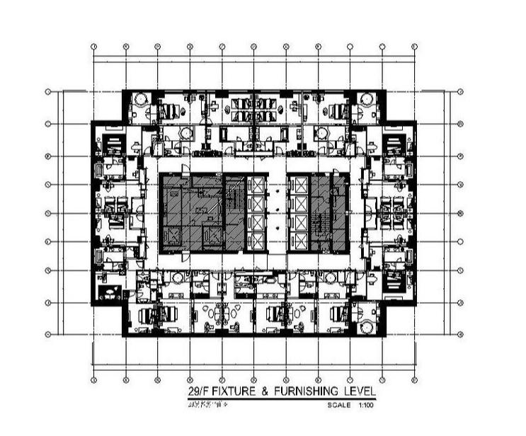[东莞]五星级酒店标准单人房、套房设计施工图