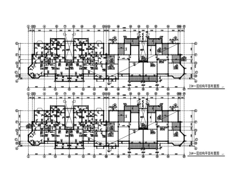 江苏6层砖混结构住宅楼建筑结构施工图