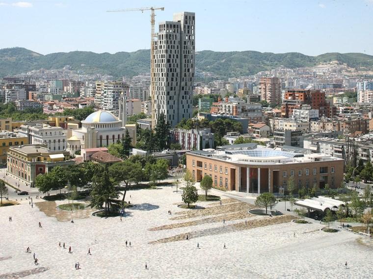 阿尔巴尼亚Skanderbeg广场改造-1